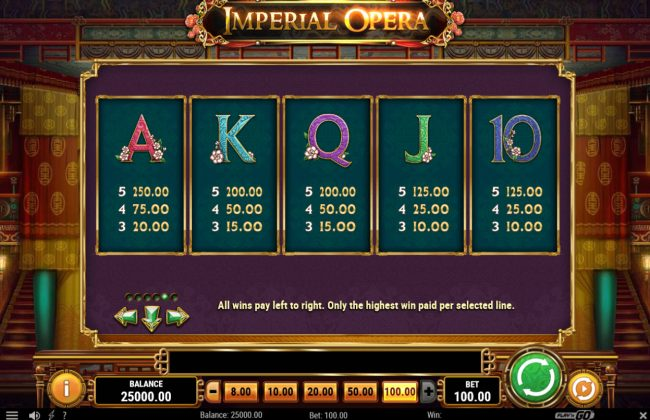 Africa Casino featuring the Video Slots Imperial Opera with a maximum payout of $50,000