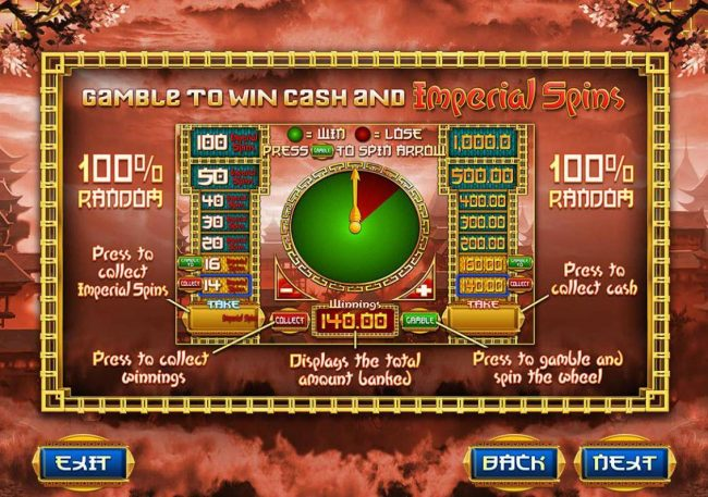 Casimba featuring the Video Slots Imperial Dragon with a maximum payout of $20,000