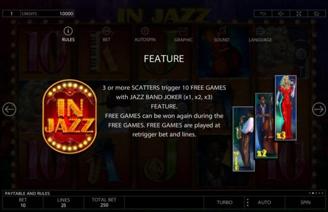 Play slots at Betchain: Betchain featuring the Video Slots In Jazz with a maximum payout of $100,000