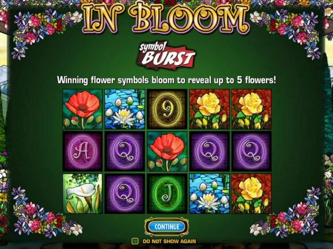 Cheeky Riches featuring the Video Slots In Bloom with a maximum payout of $250,000