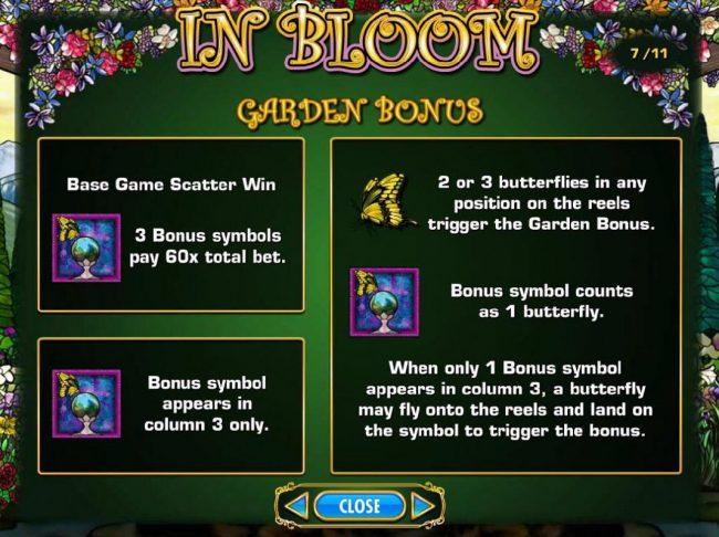 In Bloom :: Garden Bonus Rules
