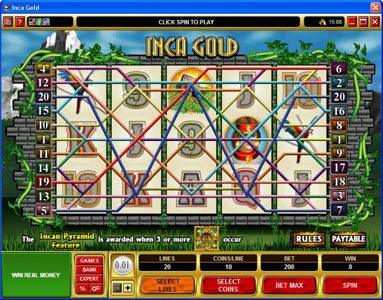 Mummys Gold featuring the Video Slots Inca Gold with a maximum payout of $50,000