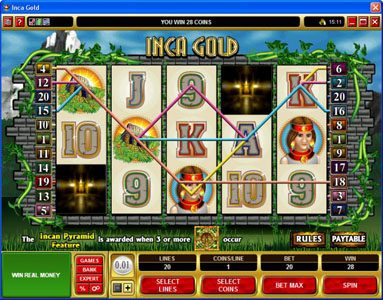 Play slots at Quatro: Quatro featuring the Video Slots Inca Gold with a maximum payout of $50,000