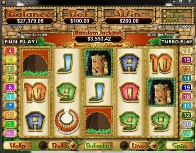 Play slots at Play Croco: Play Croco featuring the Video Slots Incan Goddess with a maximum payout of $250,000
