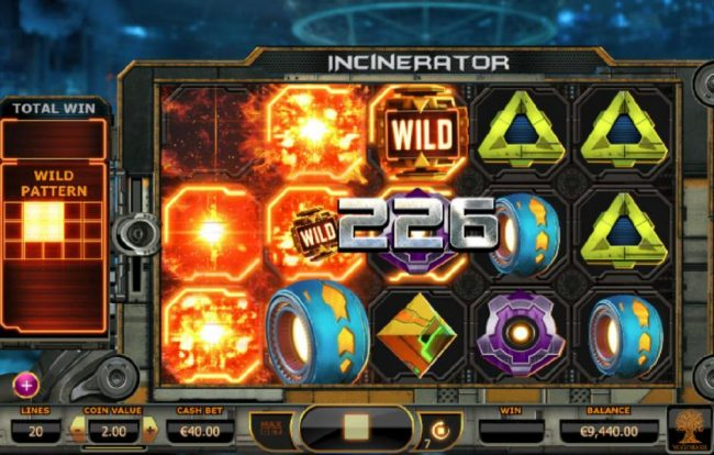 Casino Cruise featuring the Video Slots Incinerator with a maximum payout of $400.00