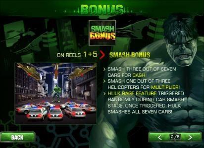 smash bonus on reels 1 and 5