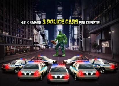 select three police cars for hulk to smash and win credits
