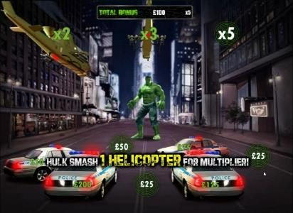 21 Nova featuring the Video Slots The Incredible Hulk 50 Lines with a maximum payout of $40,000