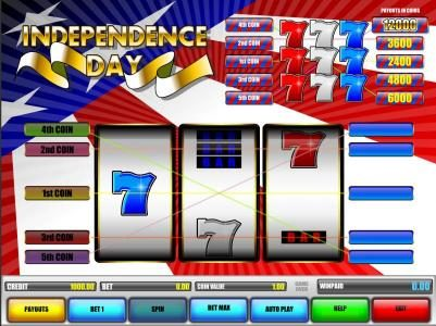 Long Harbour featuring the Video Slots Independence Day with a maximum payout of $60,000