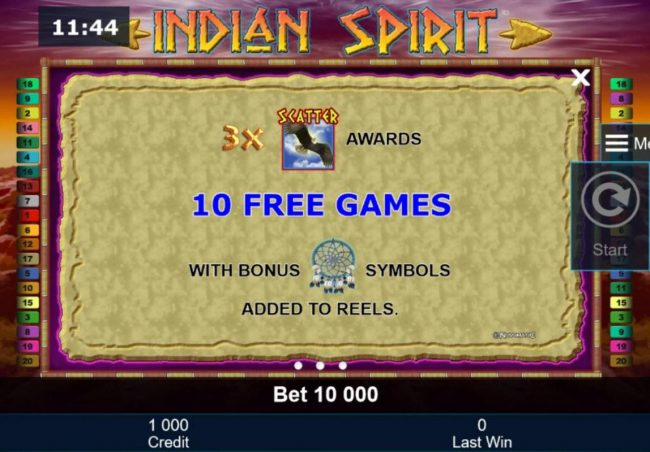 Energy featuring the Video Slots Indian Spirit with a maximum payout of $500,000