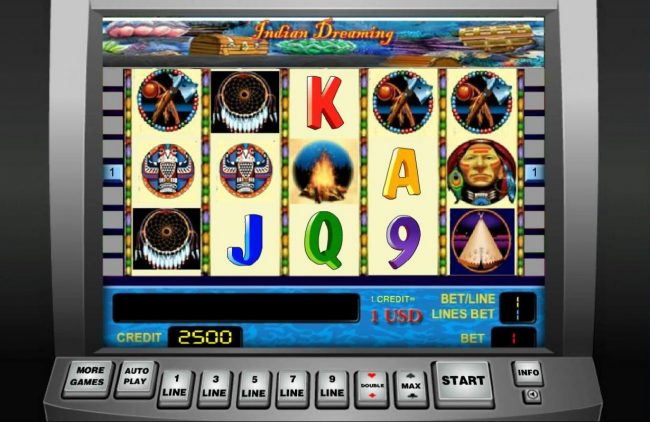 365 Bet Bit featuring the Video Slots Indian Dreaming with a maximum payout of $9,000