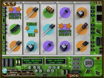 3Dice featuring the Video Slots Industria with a maximum payout of $4,000