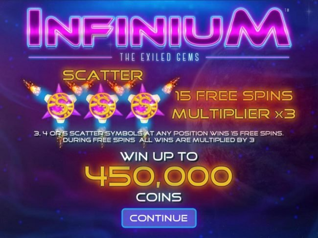 Play slots at Betwinner: Betwinner featuring the Video Slots Infinium The Exiled Gems with a maximum payout of $22,500