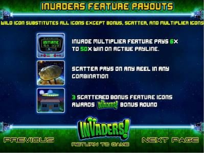 MyBcasino featuring the Video Slots Invaders with a maximum payout of $25,000