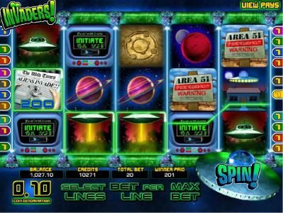 Play slots at Bella Vegas: Bella Vegas featuring the Video Slots Invaders with a maximum payout of $25,000