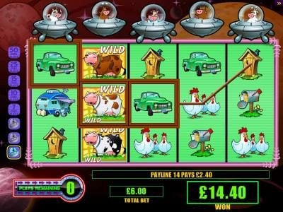 Play slots at DruckGluck: DruckGluck featuring the Video Slots Invaders from the Planet Moolah with a maximum payout of $250,000