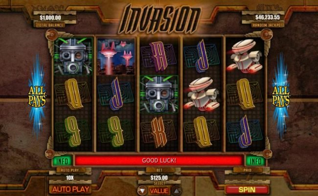 Planet7 Oz featuring the Video Slots Invasion with a maximum payout of Jackpot
