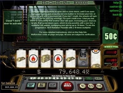 Mighty Slots featuring the Video Slots I.R.I.S. 3000 with a maximum payout of Jackpot