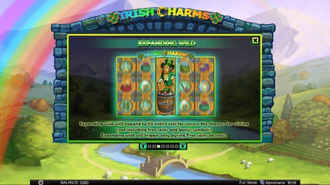 24 Vip featuring the Video Slots Irish Charms with a maximum payout of $100,000
