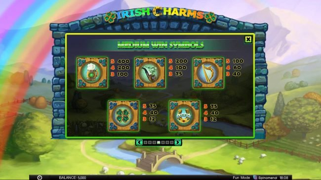 Africa Casino featuring the Video Slots Irish Charms with a maximum payout of $100,000