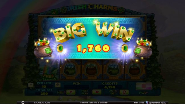 Play slots at Bet Shah: Bet Shah featuring the Video Slots Irish Charms with a maximum payout of $100,000