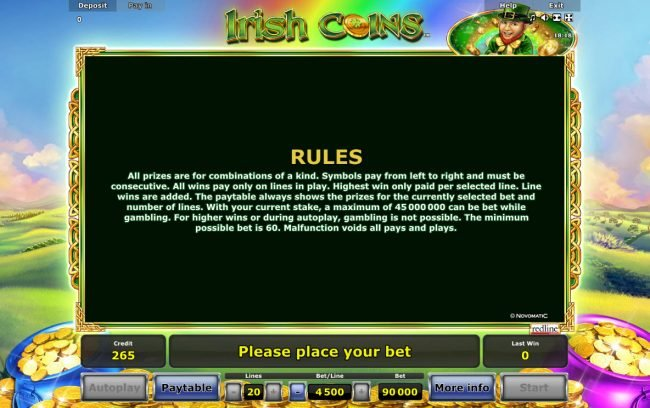 Irish Coins :: General Game Rules