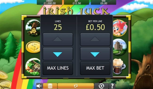 Money Reels featuring the Video Slots Irish Luck with a maximum payout of $32,000