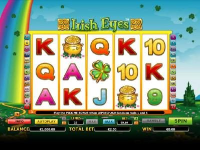 Play slots at VIP Casino: VIP Casino featuring the Video Slots Irish Eyes with a maximum payout of $20,000