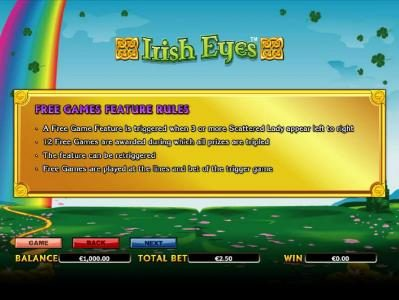 DruckGluck featuring the Video Slots Irish Eyes with a maximum payout of $20,000