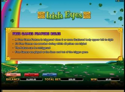 Yukon Gold featuring the Video Slots Irish Eyes with a maximum payout of $20,000