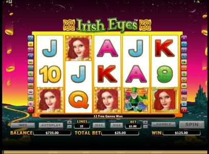 Slots Million featuring the Video Slots Irish Eyes with a maximum payout of $20,000