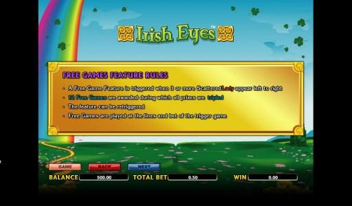 Play slots at Next Casino: Next Casino featuring the Video Slots Irish Eyes with a maximum payout of 10000x