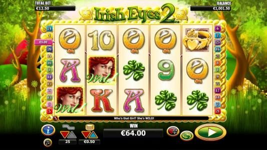 Money Reels featuring the Video Slots Irish Eyes 2 with a maximum payout of $10,000