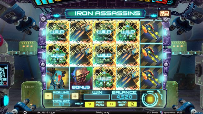 CryptoWild featuring the Video Slots Iron Assassins with a maximum payout of $150,000