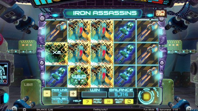 Africa Casino featuring the Video Slots Iron Assassins with a maximum payout of $150,000