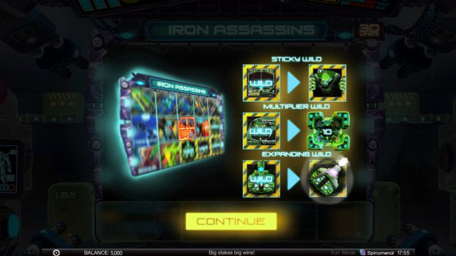Play slots at Ego Casino: Ego Casino featuring the Video Slots Iron Assassins with a maximum payout of $150,000