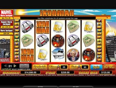 Play slots at Zet Casino: Zet Casino featuring the video-Slots Iron Man with a maximum payout of 6,000x