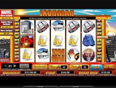 Dream Vegas featuring the video-Slots Iron Man with a maximum payout of 6,000x