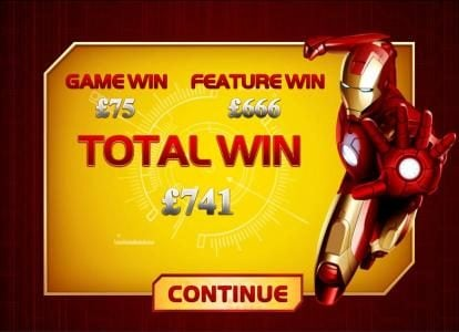 50 Stars featuring the Video Slots Iron Man with a maximum payout of $50,000
