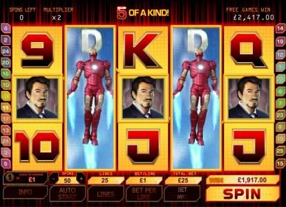 5 of a kind leads to a big win jackpot during bonus round