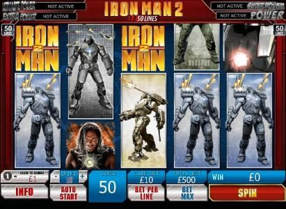 Iron Man 2 - 50 Lines :: Main game board