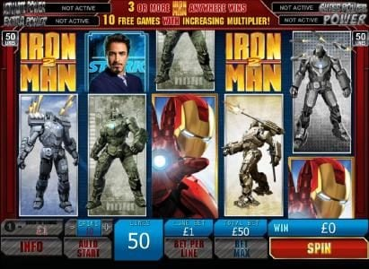Iron Man 2 - 50 Lines :: scatter win triggered by two iron man 2 scatter symbols