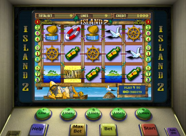 Play slots at Club Vulkan: Club Vulkan featuring the Video Slots Island 2 with a maximum payout of $7,500