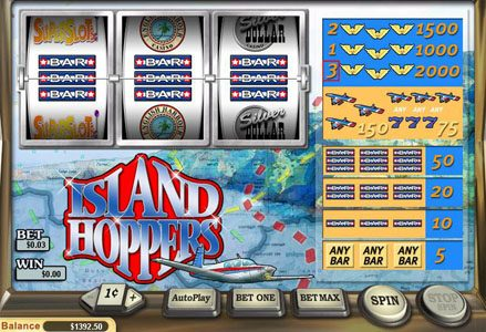 Red Stag featuring the Video Slots Island Hoppers with a maximum payout of $20,000