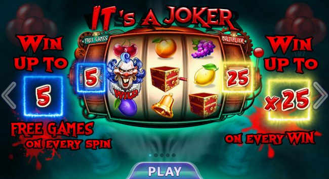Casino Dingo featuring the Video Slots It's A Joker with a maximum payout of $15,000