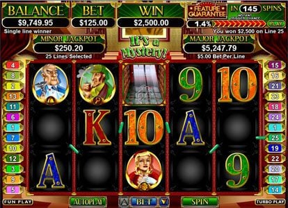 Slotastic featuring the Video Slots It's a Mystery with a maximum payout of $250,000