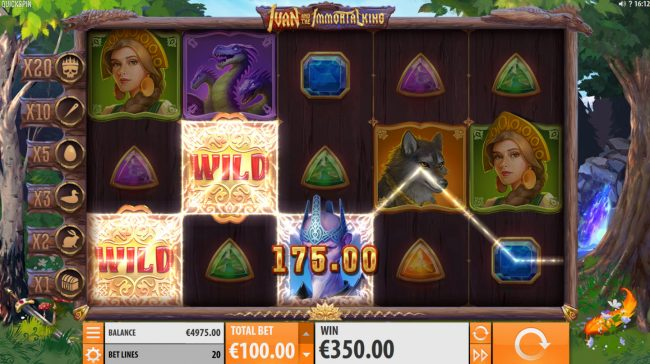 Crazy vegas featuring the Video Slots Ivan and the Immortal King with a maximum payout of $200,000