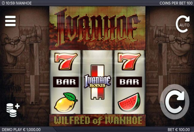 Play slots at Malina: Malina featuring the Video Slots Ivanhoe with a maximum payout of $300,000