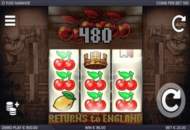 Cosmik featuring the Video Slots Ivanhoe with a maximum payout of $300,000