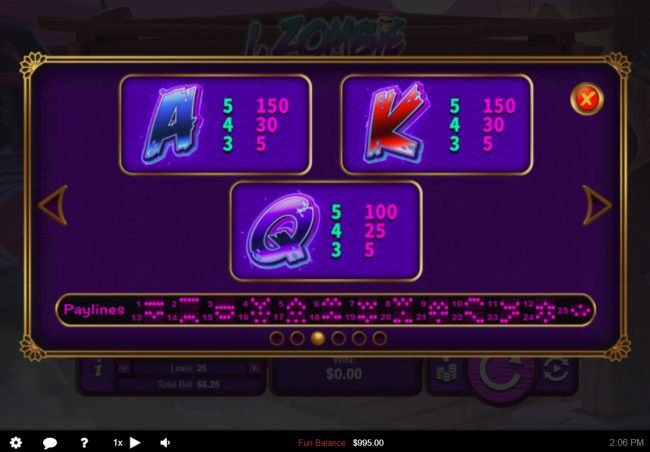Play slots at Titan: Titan featuring the Video Slots I, Zombie with a maximum payout of $12,500